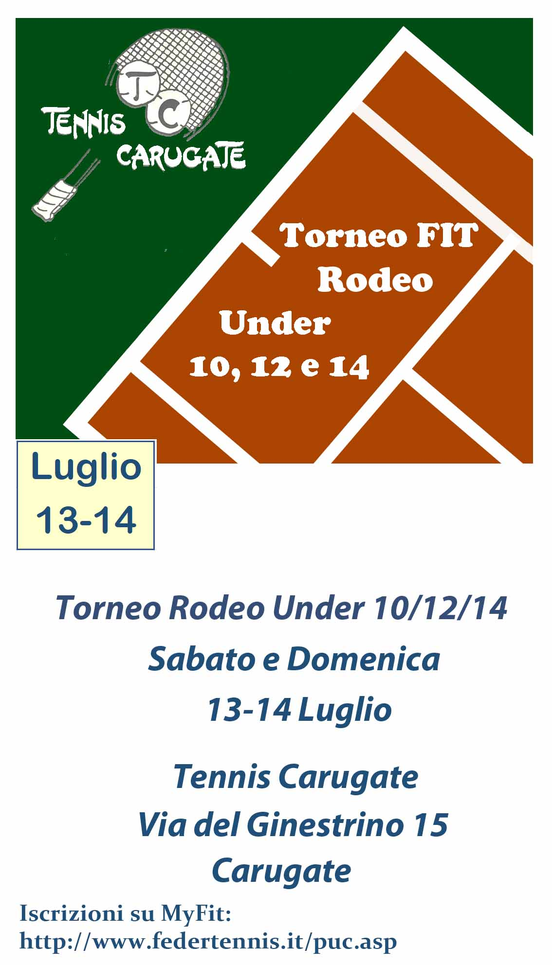 Fit Calendario Tornei.Tennis Carugate Associazione Sportiva Dilettantistica